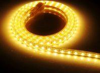 Жълта осветителна лента с диоди